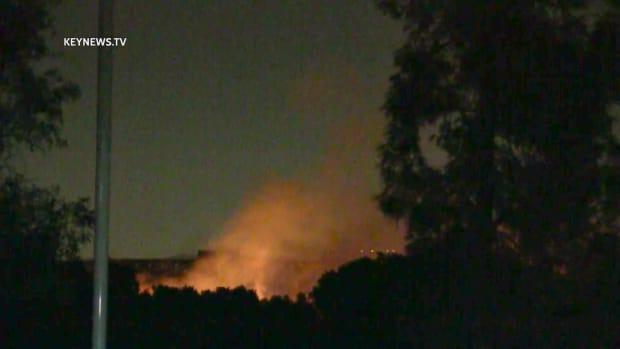 Hansen Dam 2-Acre Fire