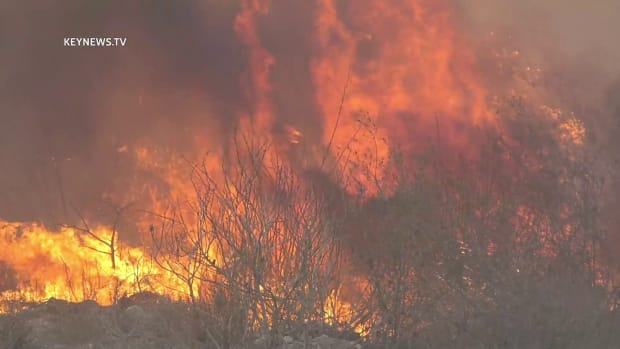Brush Fire Burns in Irwindale
