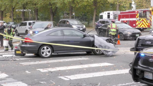 Stolen Vehicle Crashes into Multiple Vehicles in Kent Intersection