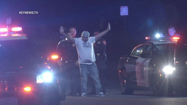 Newhall to Sante Fe CHP Pursuit Driver in Custody