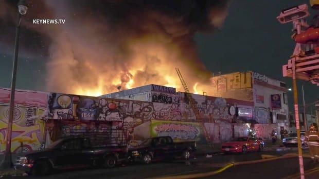 Fire Burns Through Commercial Building