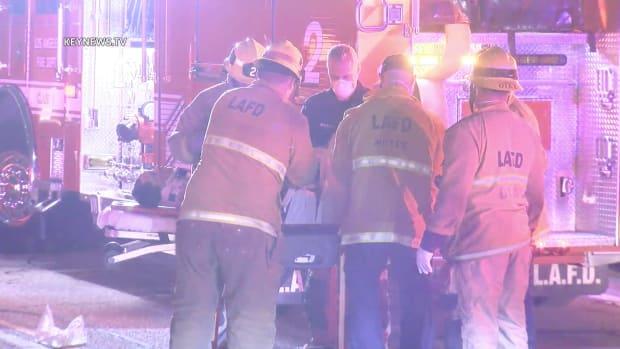Woman Struck with Paramedics on I-10 Freeway