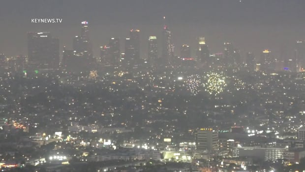 Fireworks Scattered over L.A. Basin