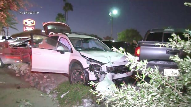 In-N-Out Collision Involving Six Vehicles