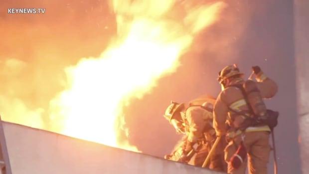 Long Beach Second Alarm Structure Fire