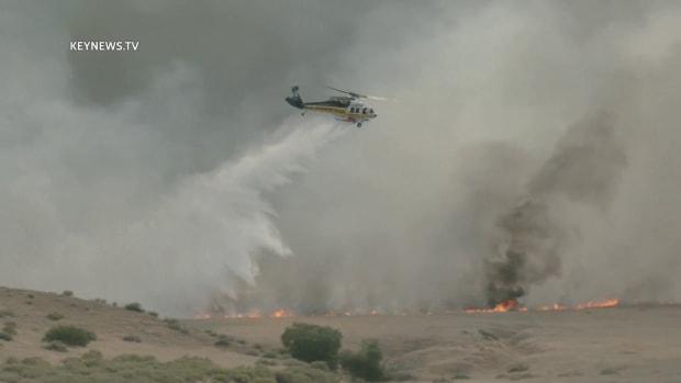 Two Brush Fires Burn in Gorman