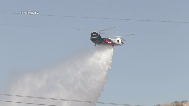 Air Support for Vasquez Fire Near Canyon Country