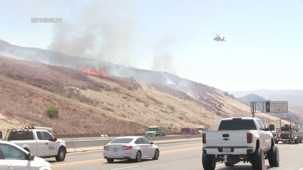 Brush Fire Near 14 Freeway