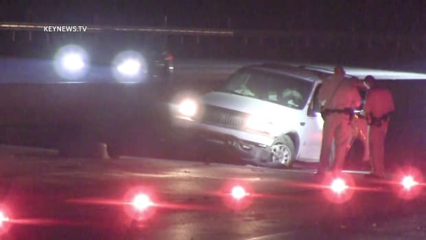 Driver Hospitalized After 14 Freeway Collision