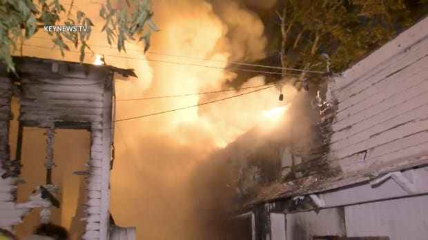 Fire Burns Silver Lake Back House and Detached Garage