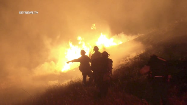 """""""Evening Fire"""" in Simi Valley"""