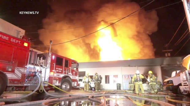 Major Emergency Fire in Panorama City