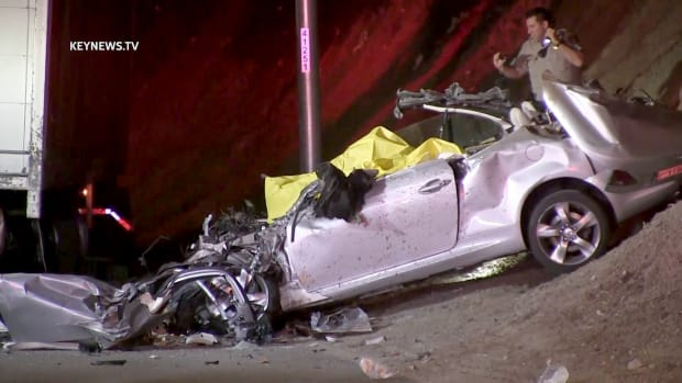 2 Decapitated in 5 Freeway Collision