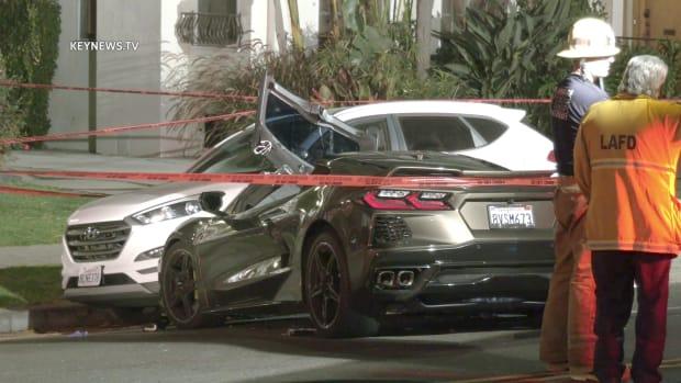 Corvette Los Feliz Collision Kills Male
