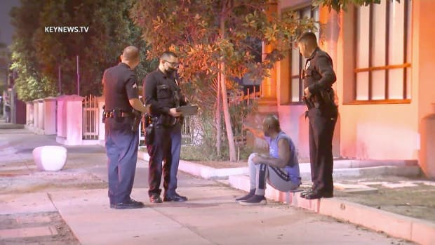 Man Shot with Paint Ball Gun in Exposition Park