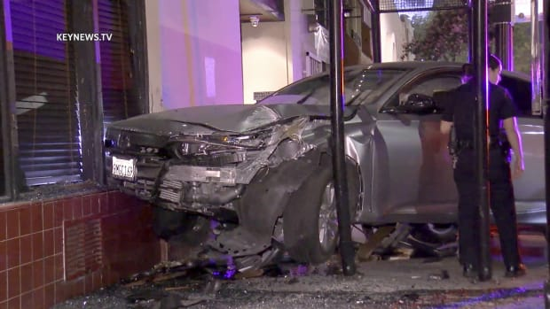 Pursued Vehicle Located Crashed into Building in Highland Park