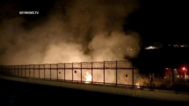 Brush Fire in Santa Clarita Wash
