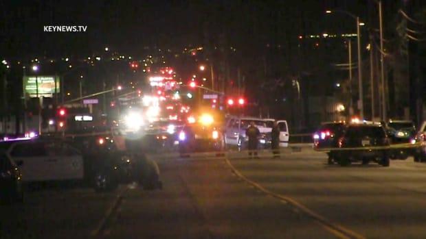 Suspect Crashes Head-On into Palmdale Sheriff's Vehicle