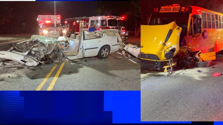 HEAD ON COLLISION WITH SCHOOL BUS