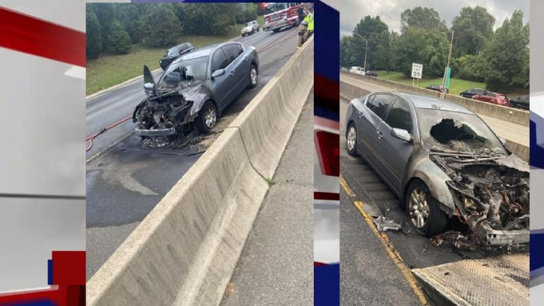 VIDEO: CAR EXPLODES ON EXPRESSWAY WITH KIDS INSIDE