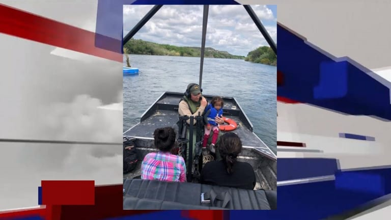 MEXICAN IMMIGRANT FAMILY RESCUED FROM RIO GRANDE RIVER