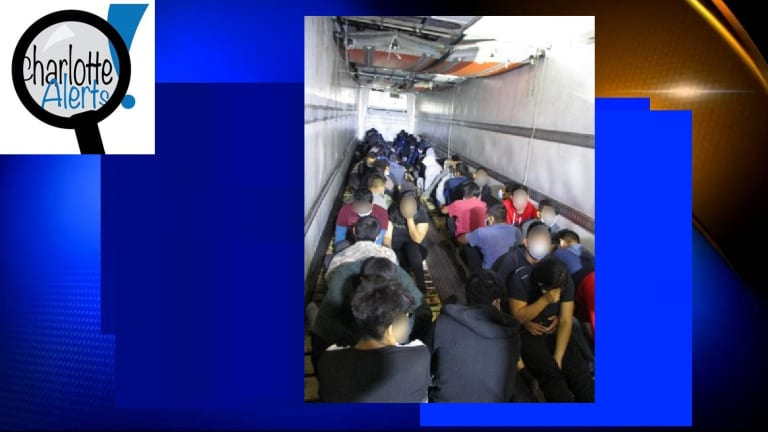 A GROUP OF 200 ILLEGAL IMMIGRANTS WERE IN THE BACK OF A COMMERCIAL TRUCK