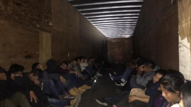 OVER 32 ILLEGAL IMMIGRANTS WERE ARRESTED IN A SMUGGLING ATTEMPT