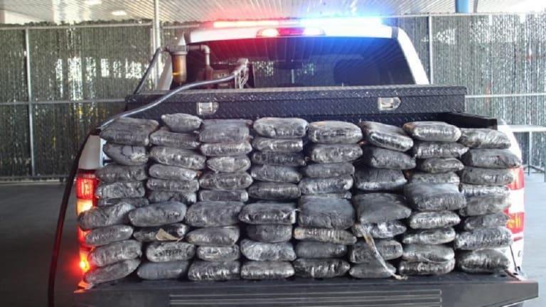 $7 MILLION WORTH OF METHAMPHETAMINE FOUND ON BACK OF FORD TRUCK