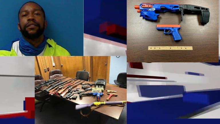 REAL GUN DISGUISED AS TOY NERF GUN, DRUGS AND CASH SEIZED; PSILOCYBIN MUSHROOMS
