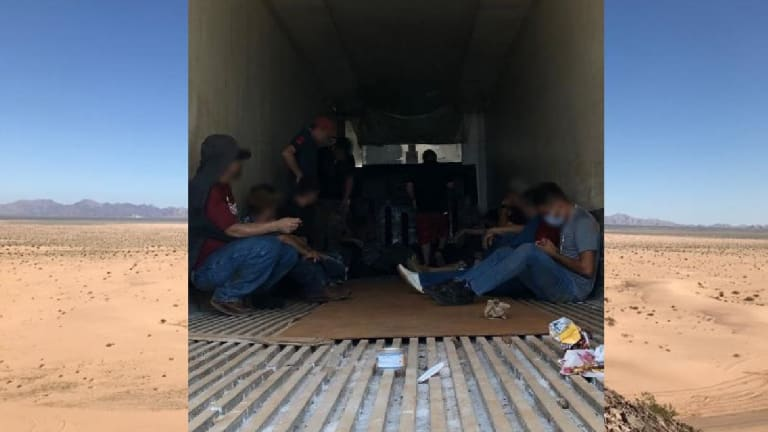 STUCK TRACTOR TRAILER LEADS TO FAILED HUMAN SMUGGLING ATTEMPT