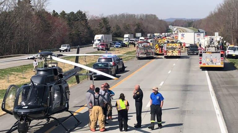 ONE KILLED IN 18-WHEELER CRASH ON INTERSTATE 485, TRAFFIC BLOCKED