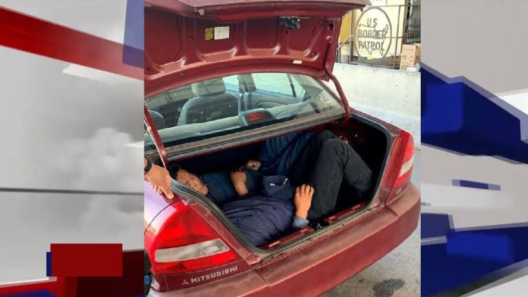 ILLEGAL IMMIGRANTS HIDE IN TRUNK OF CAR TO AVOID DETECTION