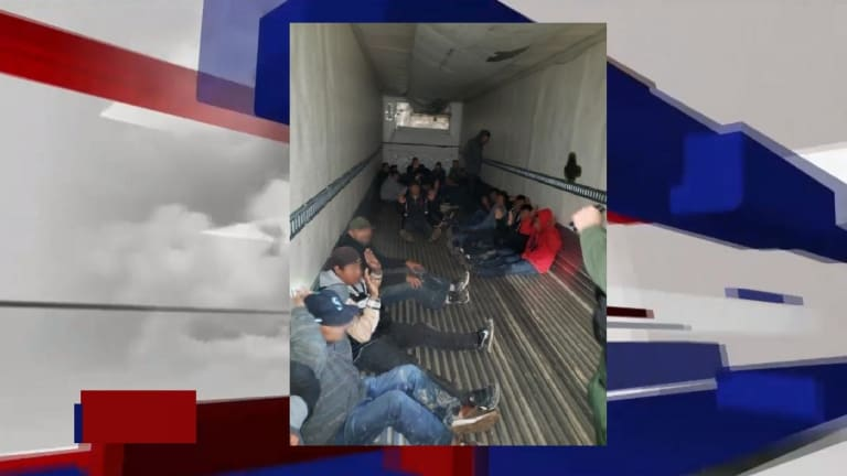 ILLEGAL IMMIGRANTS FOUND SMUGGLED IN 18-WHEELER TRUCK