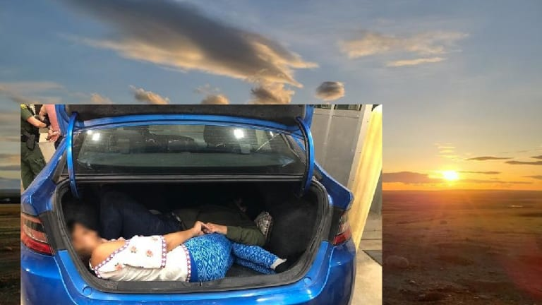 UNDOCUMENTED IMMIGRANTS HID IN CAR TRUNK DURING HUMAN SMUGGLING ATTEMPT