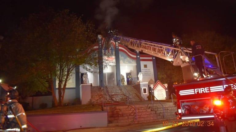 HOUSE OF PRAYER CHURCH CATCHES FIRE OVERNIGHT