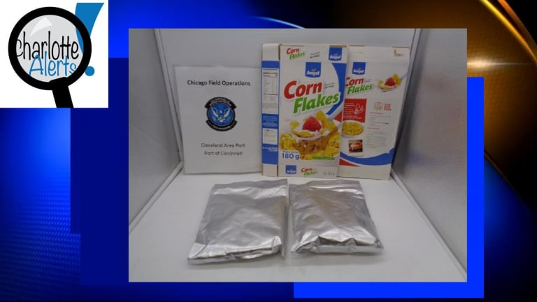 $2 MILLION WORTH OF COCAINE FOUND IN CORN FLAKES CEREAL