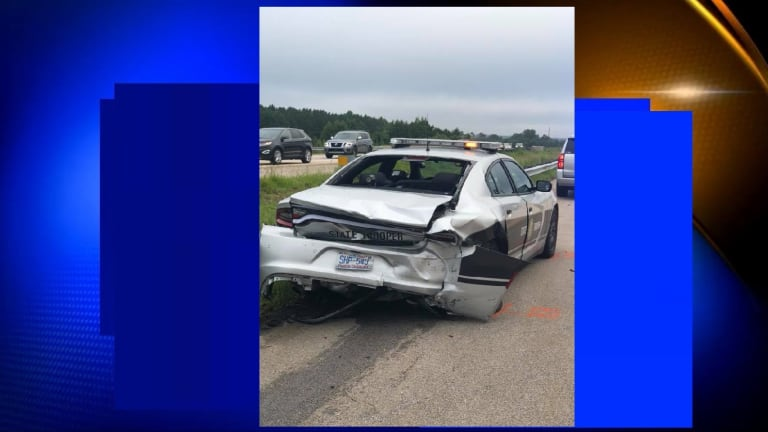 STATE TROOPER SERIOUSLY INJURED AFTER TRAFFIC STOP CAR ACCIDENT