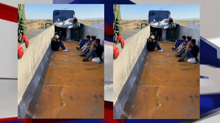 SEVERAL ILLEGAL IMMIGRANTS FOUND HIDING ON BACK OF 18-WHEELER TRUCK