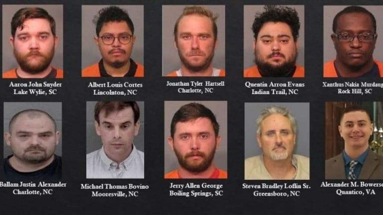 EX DAVIDSON COLLEGE PROFESSOR & 9 MEN ARRESTED ON CHILD SEX CRIME CHARGES