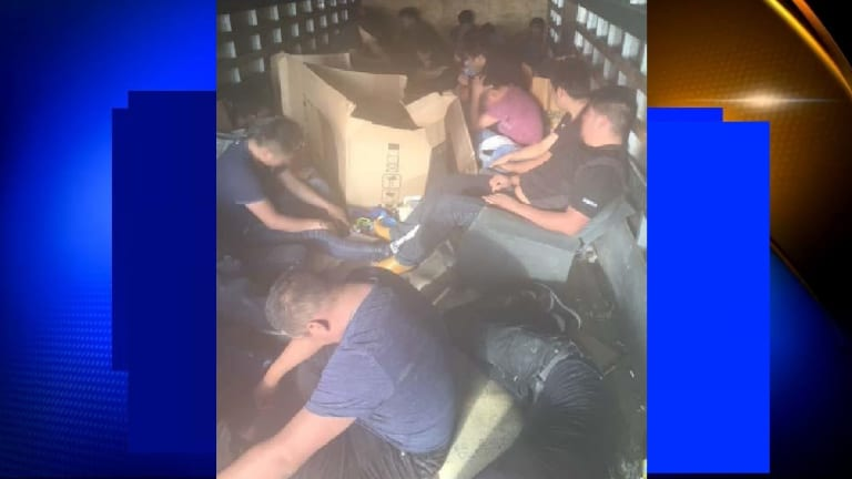 BORDER PATROL CATCHES 24 PEOPLE BEING SMUGGLED IN TRUCK