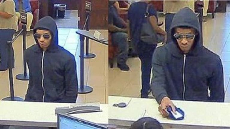 FBI LOOKING FOR BANK ROBBER