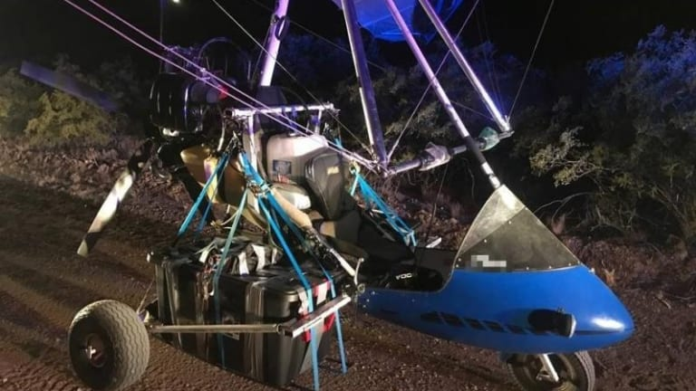 ULTRALIGHT AIRCRAFT LOADED WITH $500,000 IN DRUGS SEIZED AT UNITED STATES BORDER