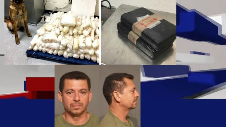 DRUG DOG CATCHES MAN WITH $4 MILLION IN METH & COCAINE WHILE DRIVING WORK TRUCK