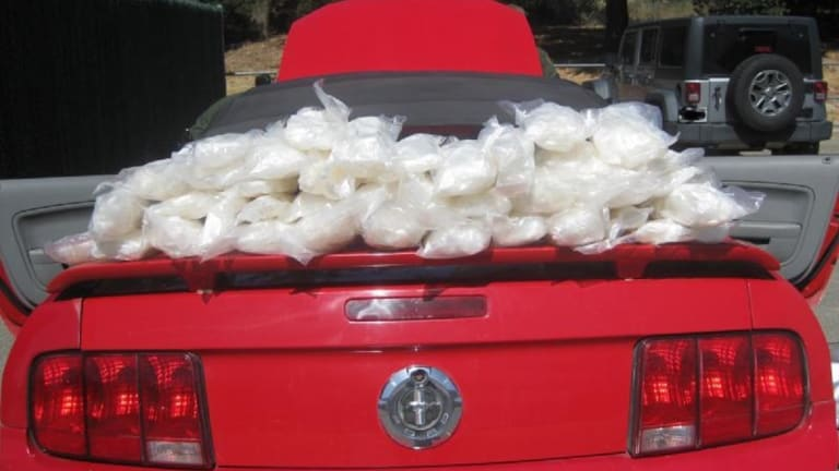 $82,000 WORTH OF METH FOUND IN FORD MUSTANG GAS TANK