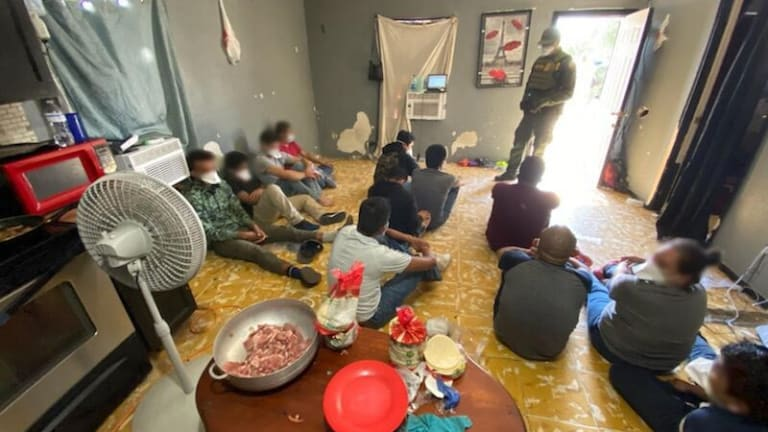 DILAPIDATED STASH HOUSE HAD LARGE GROUP OF ILLEGAL IMMIGRANTS IN IT