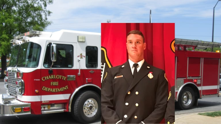 CHARLOTTE FIRE FIGHTER DIES WHILE OFF DUTY