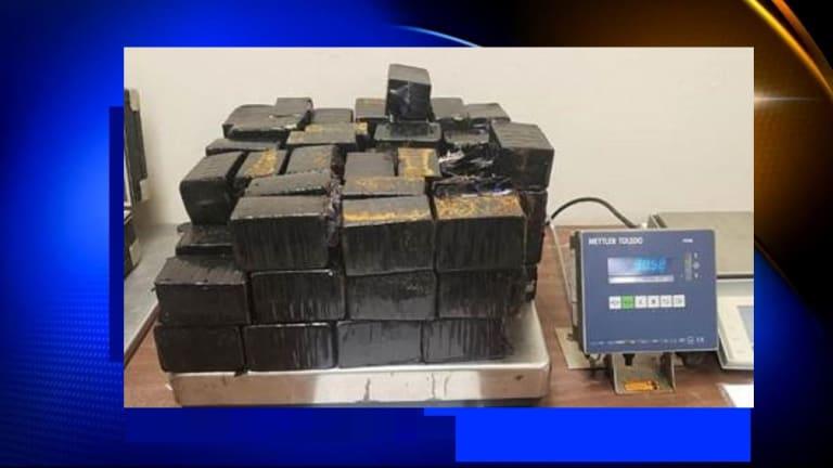 MAN FOUND WITH $1.3 MILLION WORTH OF METHAMPHETAMINE HIDDEN IN CAR TIRES