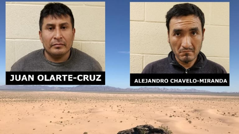 2 CONVICTED SEX OFFENDERS ARRESTED IN DESSERT NEAR UNITED STATES BORDER