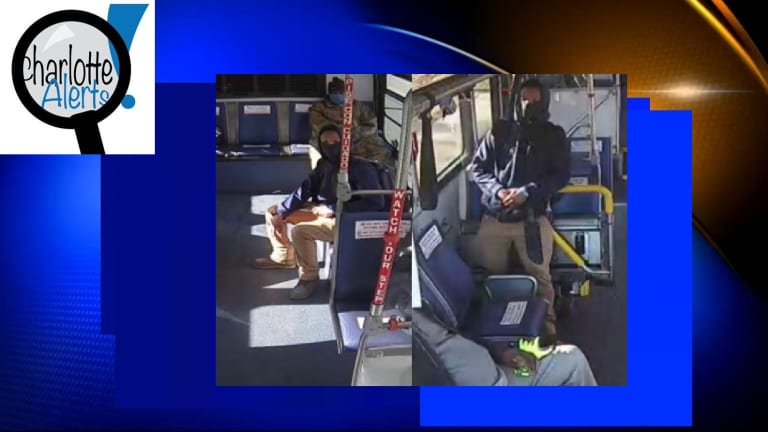 MAN WITH MASK ON STABS 2 PEOPLE ON CITY BUS WITH MACHETE KNIFE
