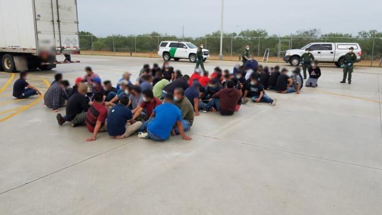 66 ILLEGAL IMMIGRANTS FOUND HIDING IN 18-WHEELER TRUCK DURING SMUGGLING PLOT